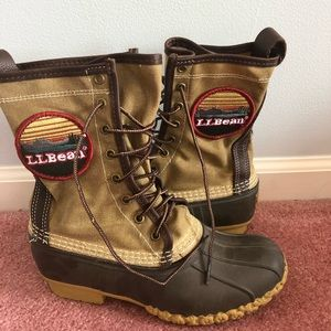 "Katahdin Patch Waxed-Canvas L.L.Bean Boots, 10"""